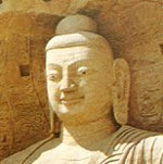 Buddhist religious symbols - Buddha statue with western face