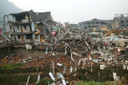China Sichuan earthquake: Buildings Collapsed