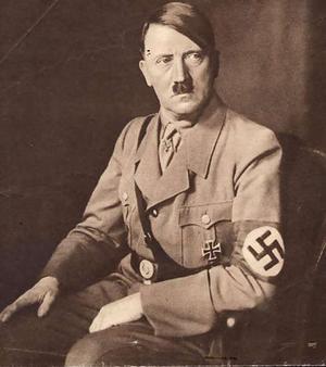 Buddhist religious symbols - nazi symbol and Hitler