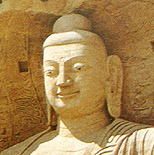 Buddhist symbol - Buddha statue with western face