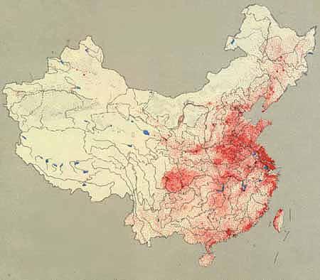 population of China: Population distribution