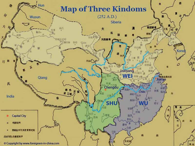 map of the three kingdoms