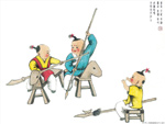 Chinese painting: kids 6