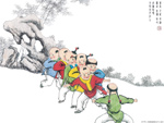 Chinese painting: kids 11