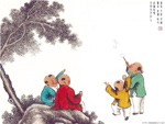 Chinese painting: kids 12