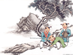 Chinese painting: kids 13